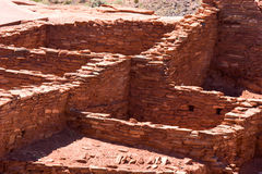 Structure en pierre antique, pueblo de Wupatki, monument national de Wupatki photo libre de droits