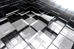 Structure en verre abstraite illustration libre de droits