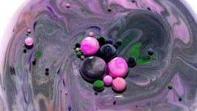Structure fantastique des bulles colorées Texture abstraite acrylique avec le modèle de marbre
