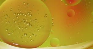 Structure fantastique des bulles color?es Mouvement chaotique abr?gez le fond banque de vidéos