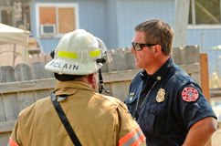 Structure Fire Stock Photography