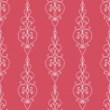 Structure florale sans couture Ornement rouge de vecteur sur le fond blanc illustration de vecteur