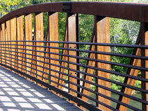 Structure and Form. Form and Structure of a pedestrian bridge Stock Images