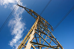 Structure of framework electricity. On blue sky Stock Images