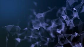 Structure futuriste abstraite de connexion réseau de molécule image stock