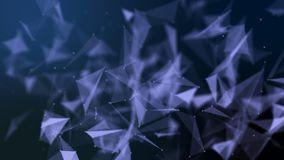 Structure futuriste abstraite de connexion réseau de molécule photos libres de droits