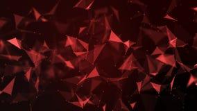 Structure futuriste abstraite de connexion réseau de molécule illustration libre de droits