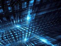 Structure futuriste - l'abr?g? sur style de technologie a digitalement produit de l'image illustration libre de droits