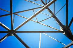 Structure geometric of framework Stock Photos