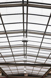 Structure glasses roof with lamps lighting. Stock Photography