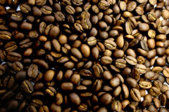 Structure from  grains of coffee Royalty Free Stock Image