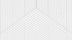 Structure Grid Animation On White Background stock video