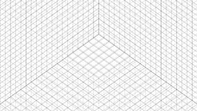 Structure Grid Animation On White Background stock illustration