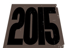 2015 Structure. A 2015 structure grunged and isolated on a white background Royalty Free Stock Image