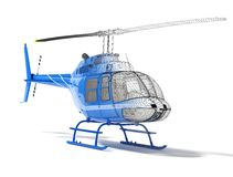 Structure of the helicopter, front view. Structure of three-dimensional model of the helicopter Stock Image