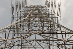 Structure of high voltage electronic pole Stock Photos