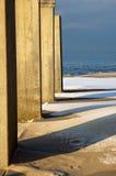 Structure hivernale de côté de plage Photographie stock libre de droits