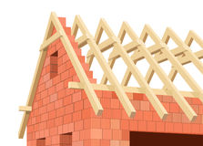 Structure of house in construction. Stock Image