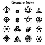 Structure icon set. Vector illustration graphic design royalty free illustration