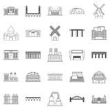 Structure icons set, outline style. Structure icons set. Outline set of 25 structure vector icons for web isolated on white background Stock Photos