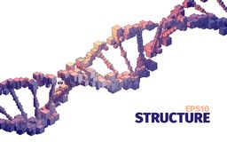 Structure illustration. 3d  abstract background. Cube elements. Boxes system. Web banner Stock Photos