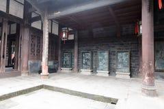 Structure interne de temple de wuhou, adobe RVB photos libres de droits