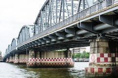 Structure of iron bridge call Sanghi Royalty Free Stock Images
