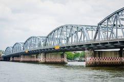 Iron bridge. Thailand Iron bridge call Sanghi. A bridge that crosses Chao Phraya River Stock Photography