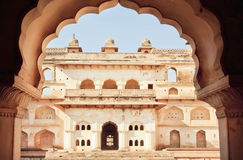 Structure of Jahangir Mahal built in 17th century in India Stock Photos