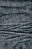 Structure of a jeans fabric Stock Images