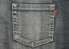 Structure of jeans (pocket) royalty free stock photos