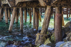 Structure of a jetty Royalty Free Stock Images