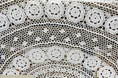 Structure of the lace hand work Stock Photography