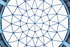 Structure of lattice of a dome Royalty Free Stock Photo