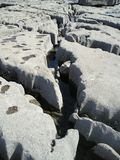Structure of limestone coast, Doolin, Ireland, EU. Limestone coast near harbor in a small village Doolin, West Ireland, EU Royalty Free Stock Image