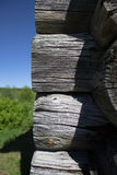 The structure of the logs of the houses stock photo
