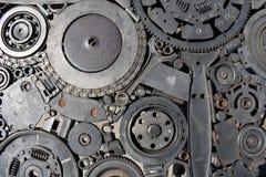 Structure mécanique en acier photos libres de droits