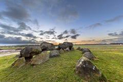 Structure mégalithique de dolmen de Hunnish Images libres de droits