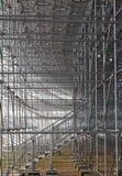 Structure métallique d'échafaudage de construction Photographie stock libre de droits