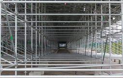 Structure métallique d'échafaudage de construction Images stock
