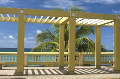 Structure on malecon Vieques. Cloister structure on the malecon vieques, puerto rico royalty free stock photo