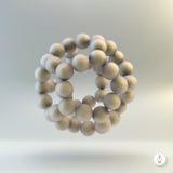 Structure moléculaire avec des sphères vecteur 3d Photo libre de droits