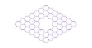 Structure moléculaire de Graphene avec un pore d'isolement sur le blanc Photo stock