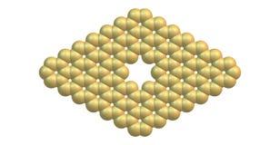 Structure moléculaire de Graphene avec un pore sur le blanc Photos stock
