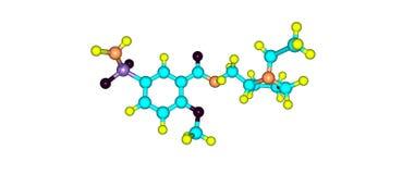 Structure moléculaire de Sulpiride d'isolement sur le blanc illustration de vecteur