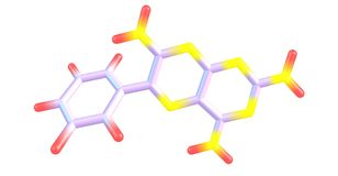 Structure moléculaire de Triamterene d'isolement sur le blanc Images stock