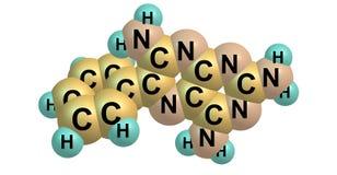 Structure moléculaire de Triamterene d'isolement sur le blanc Photographie stock libre de droits