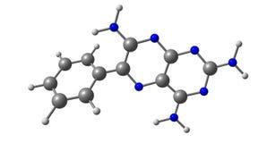 Structure moléculaire de Triamterene d'isolement sur le blanc illustration stock