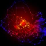 Structure moléculaire et concept de communication illustration de vecteur