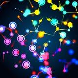 Structure moléculaire et concept de communication illustration stock